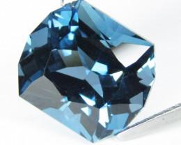 7.75Cts Sparkling Natural London Blue Topaz Fancy Rectangular Cut Loose Gem