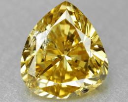 Diamond 0.59 Cts Sparkling Fancy Vivid Yellow Natural