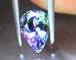 1.10ct Natural Greenish Violet Blue Tanzanite Pear Cut Lot V7796
