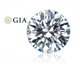 GIA Certified 0.90 Ct. D VVS2 Ex Ex Ex FL-no Loose Natural White Diamond 6.
