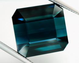 Rare! Big 29.36 ct VVS Natural Blue Tourmaline (Indicolite)- GIL Certificat