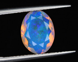 1.60 ct Ethiopian Opal with Blue & Green Fire