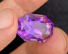 Amezing  Color 15.95Ct Natural Amethyst gemstone
