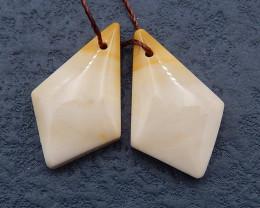 D2163 - 15cts Natural Mookite Jasper Earrings Bead Pair,Natural Gemstone Ea