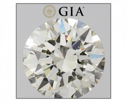 GIA Certified 1.03 Ct. K VS2 EX EX EX FL-No Loose Natural White Diamond 6.5