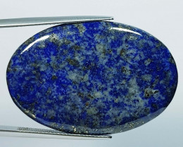 46.30 ct Natural Lapiz lazuli Oval Cabochon  Gemstone