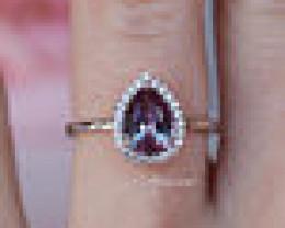 Tear drop Alexandrite Ring Sterling silver Ring