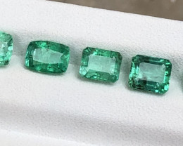 6.15 Natural Emeralds From Panjsher Afghanistan. One Piece have Black Dot