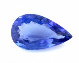 1.860(ct) Fantastic Color Pear Shape Tanzanite Faceted Gem