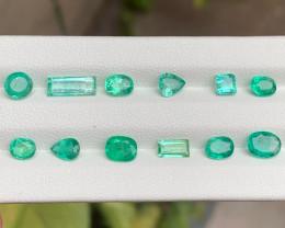 Panjsher 6.41 Carats Natural Emerald Parcel