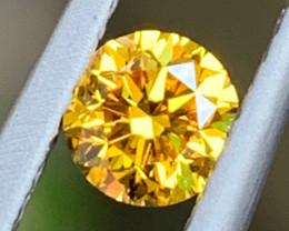 Fancy Yellow Round Brilliant Cut Diamond