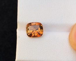 3 Ct Natural Brownish Transparent Topaz Ring Size Gemstone