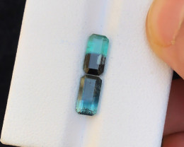 2.45 Ct Natural Bi Color Tourmaline Transparent Ring Size Gemstones Parcels
