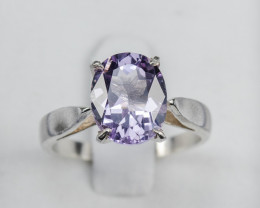 2.6g Size 6 Sterling Silver Lavender Quartz Ring