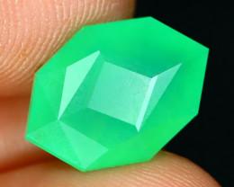 Chrysoprase 3.46Ct Master Cut Natural Green Color Chrysoprase A2730