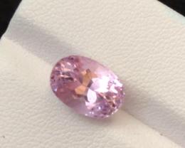 4.45 carats, Natural Pink Kunzite.