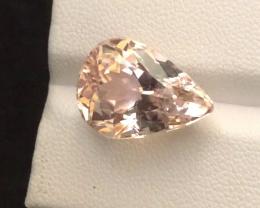 12.45 carats, Natural Yellow Kunzite.
