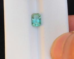 0.90 Ct Natural Greenish Transparent Tourmaline Gemstone