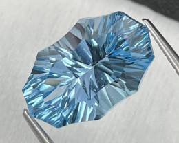11.04 Cts Master Cut Top Quality Natural Blue Topaz