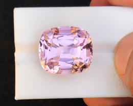 27.45 Ct Natural Pink Transparent Kunzite Gemstone