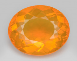 Mexican Fire Opal 3.00 Cts Very Rare Unheated Gemstone