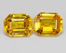 Ceylon Sapphire 1.05 Cts 2Pcs Rare Natural Yellow Color Gemstones