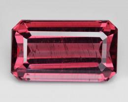 Apatite 3.58 Cts Unheated Natural Vivid Pink Color Gemstone