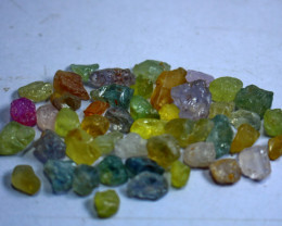 51.40 CTs Natural & Unheated~Multi Color Sapphire Rough Lot