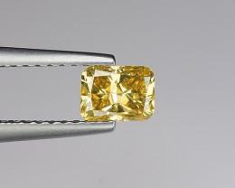 1200$ Certificate 0.60 Carat Natural Diamond beautiful Greenish yellow colo