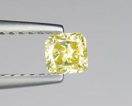 1500$ Certificate 0.31 Carat Natural Diamond beautiful greenish yellow colo