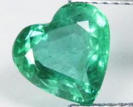 1.90Cts Genuine Amazing Zambian Emerald  Heart Shape Loose Gemstone REF VID