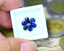 3.45ct Natural Blue Sapphire Pear Cut Lot GW9081