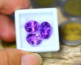 45.83ct Natural Purple Amethyst Oval Cut Lot GW9087