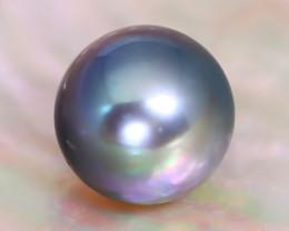 9.5mm 6.05Ct Natural Tahitian Black Color Pearl A2910