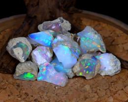 Welo Opal Rough 118Ct Natural Ethiopian Flash Color Rough Opal A2931