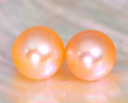 7.8mm 6.35Ct Natural Australian South Sea Orange Color Pearl A2933