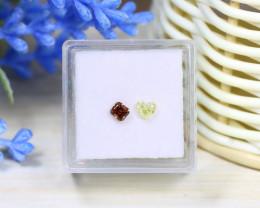 0.60Ct 2Pcs Natural Yellow Orange Diamond Untreated Genuine C2904