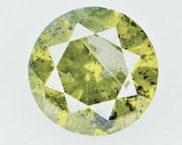 1.15 CTS , HUGE Greenish Yellow Diamond , Fancy Colored Diamond