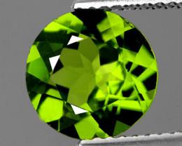 6.00 mm Round 0.77cts Green Peridot [VVS]