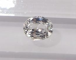 1.42ct unheated white sapphire