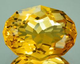 ~CUSTOM CUT~ 12.12 Cts Natural Golden Orange Citrine Fancy Oval Brazil