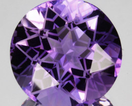 ~CUSTOM CUT~ 18.02 Cts Natural Purple Amethyst Fancy Round Bolivia