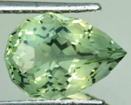 ~CUSTOM CUT~ 8.24 Cts Natural Prasiolite / Amethyst Fancy Pear Brazil