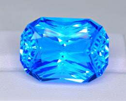 Certified Flawless 64.71 Carat Sky Blue Topaz Master Cut Gemstone