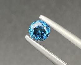Beautiful Blue Diamond 0.46 Cts Nice  Color Gemstone