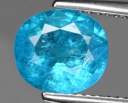 Neon Blue Apatite 2.45 Cts Unheated Natural Gemstone