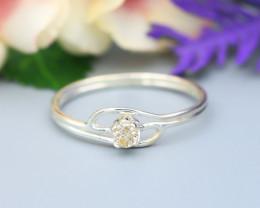 Diamond Silver Ring Natural Diamond Set in 925 Silver Ring NXS78