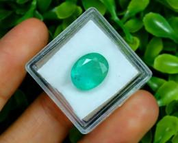Zambian Emerald 4.66Ct Oval Cut Natural Green Color Emerald B3001
