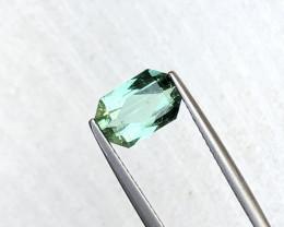2.65 Carats Natural Blueish Green Tourmaline Cut Stone