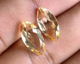 7x14mm Citrine Pair Natural Marquise Faceted Gemstone VA1170